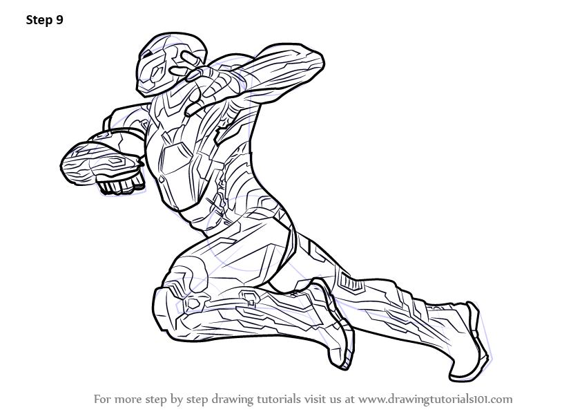 Learn How to Draw Iron Man from Captain America Civil War