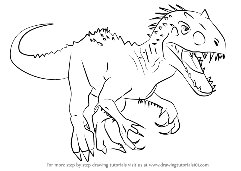 Lego Indominus Rex Coloring Pages Sketch Coloring Page