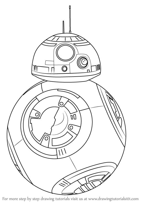 Step by Step How to Draw BB-8 from Star Wars