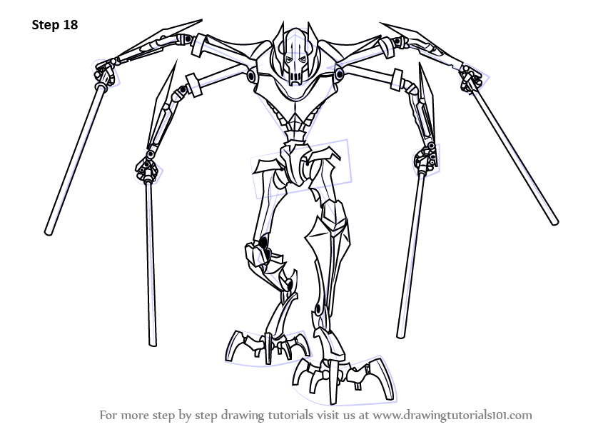 Learn How to Draw Grievous from Star Wars (Star Wars) Step