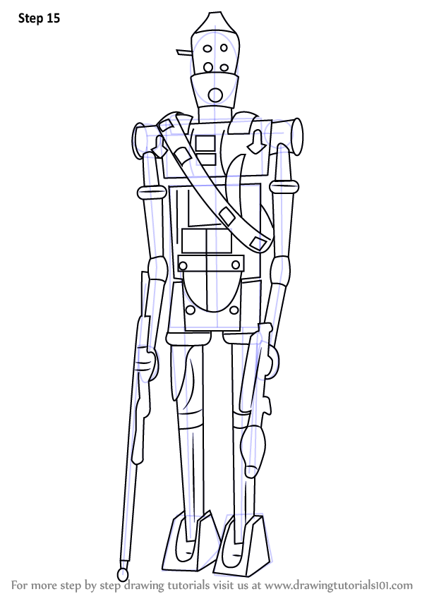 Step By Step How To Draw IG 88 From Star Wars