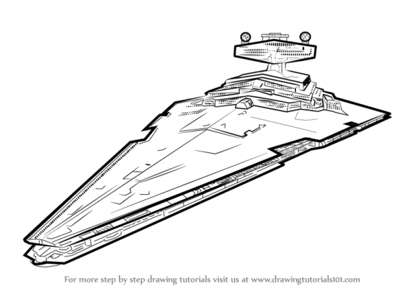 Star Wars Destroyer Coloring Pages Sketch Coloring Page