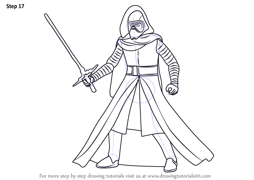 Learn How to Draw Kylo Ren from Star Wars (Star Wars) Step