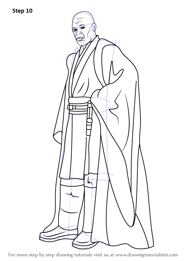 Learn How To Draw Mace Windu From Star Wars Star Wars