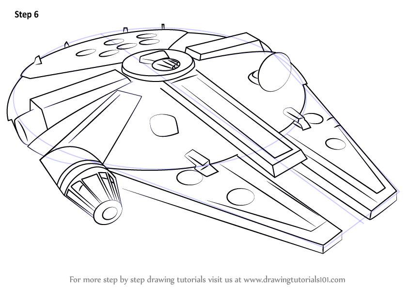 Learn How to Draw Millennium Falcon from Star Wars (Star