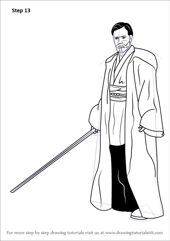 Learn How to Draw Obi-Wan Kenobi from Star Wars (Star Wars