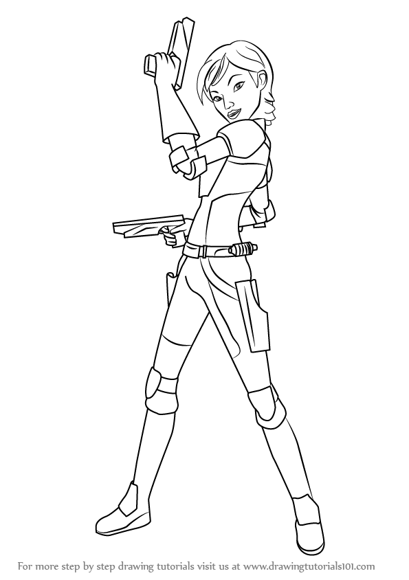 Learn How to Draw Sabine from Star Wars (Star Wars) Step