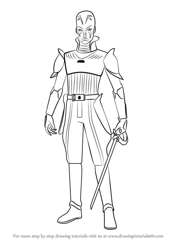 Step by Step How to Draw The Grand Inquisitor from Star