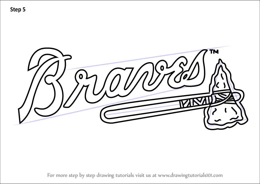 Step by Step How to Draw Atlanta Braves Logo