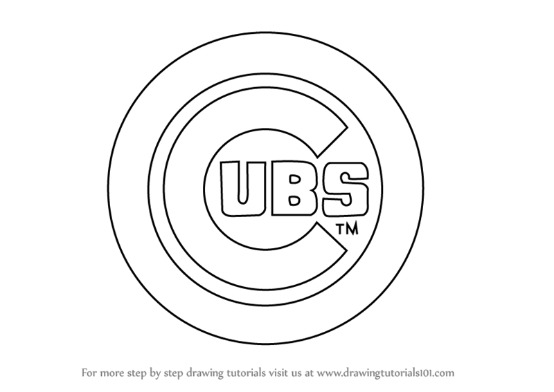 Learn How to Draw Chicago Cubs Logo (MLB) Step by Step