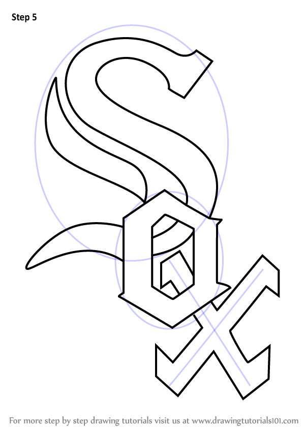 Learn How to Draw Chicago White Sox Logo (MLB) Step by