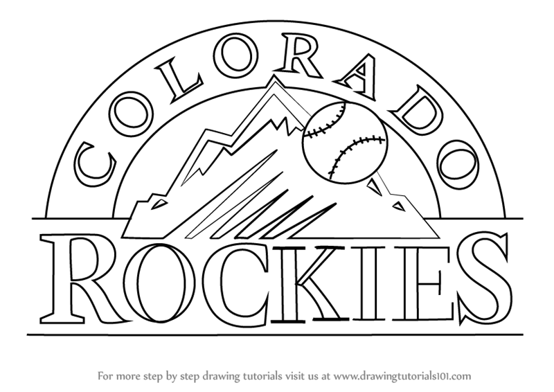 Learn How to Draw Colorado Rockies Logo (MLB) Step by Step