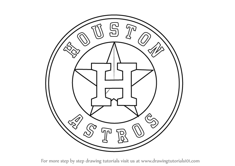 Step by Step How to Draw Houston Astros Logo