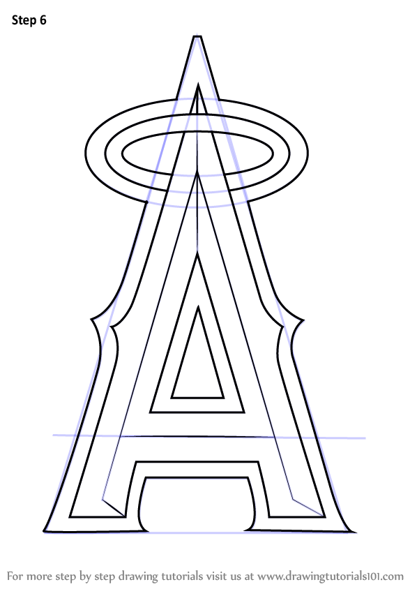 Learn How To Draw Los Angeles Angels Of Anaheim Logo MLB