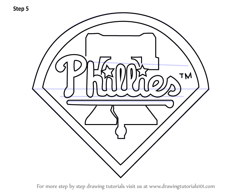 Learn How to Draw Philadelphia Phillies Logo (MLB) Step by