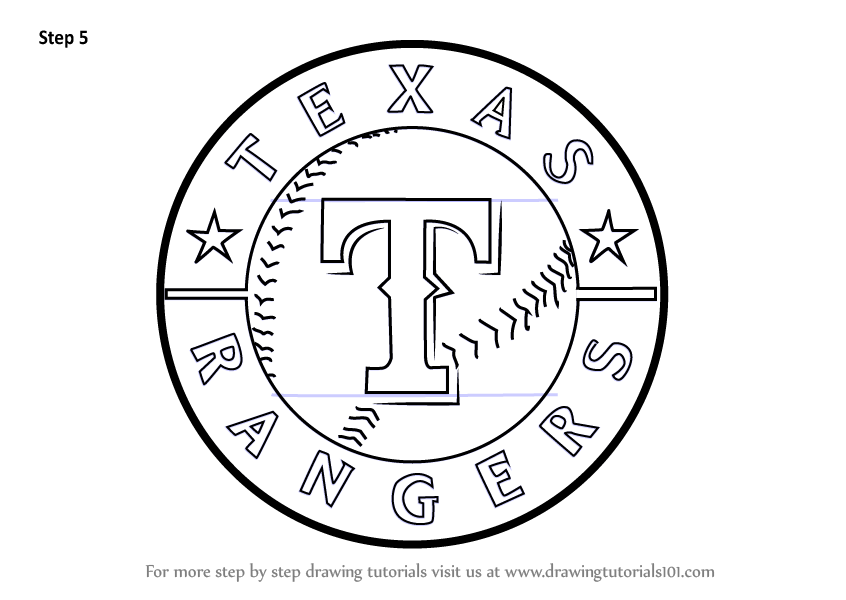 Learn How to Draw Texas Rangers Logo (MLB) Step by Step