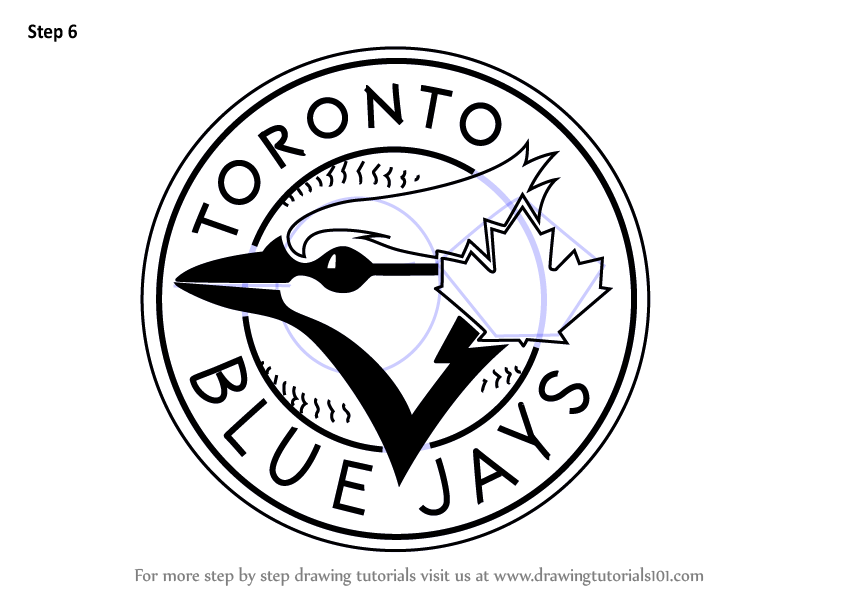 Learn How to Draw Toronto Blue Jays Logo (MLB) Step by