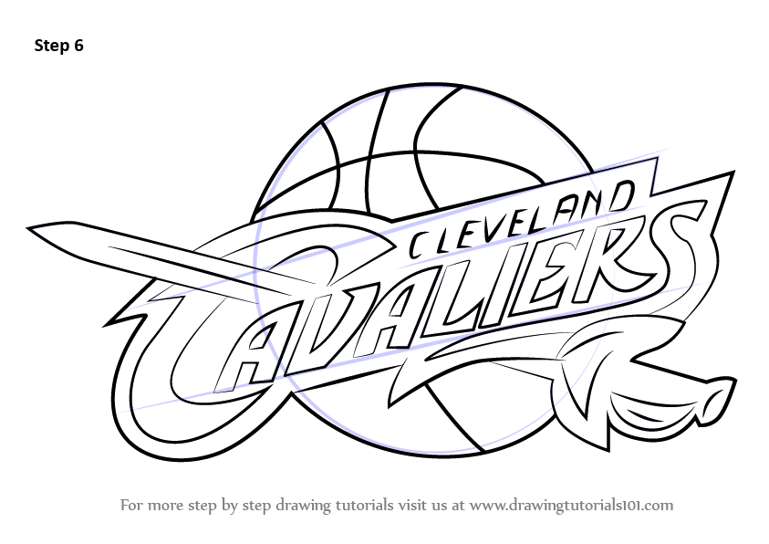Learn How to Draw Cleveland Cavaliers Logo (NBA) Step by