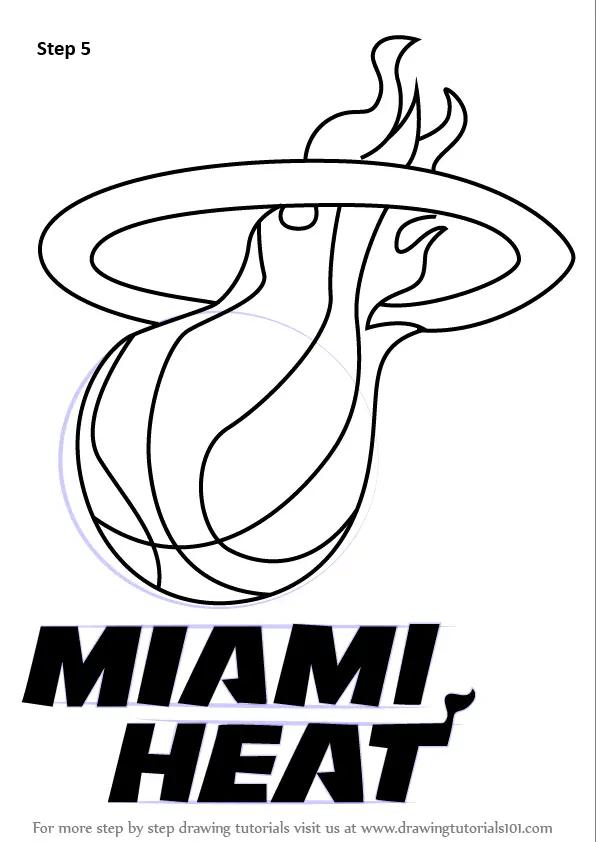 Learn How to Draw Miami Heat Logo (NBA) Step by Step