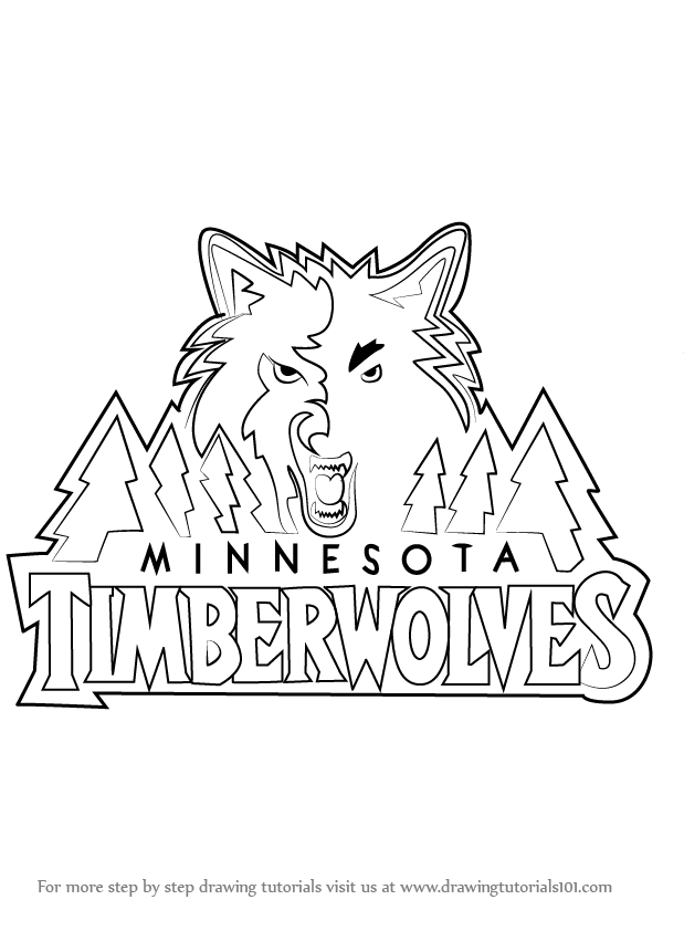 Learn How to Draw Minnesota Timberwolves Logo (NBA) Step