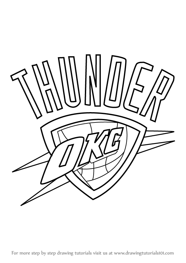 Learn How to Draw Oklahoma City Thunder Logo (NBA) Step by