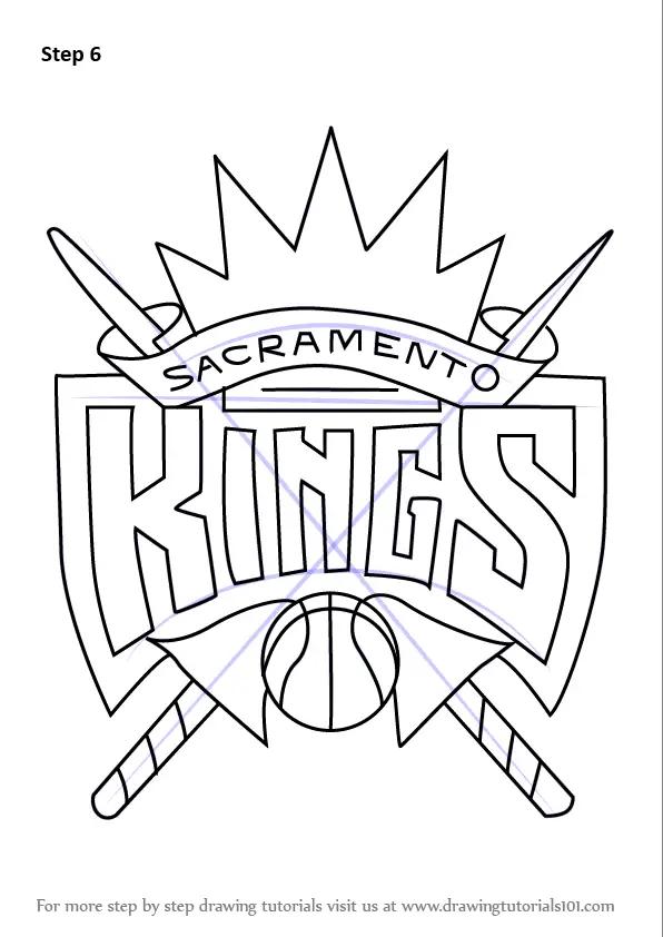 Learn How to Draw Sacramento Kings Logo (NBA) Step by Step
