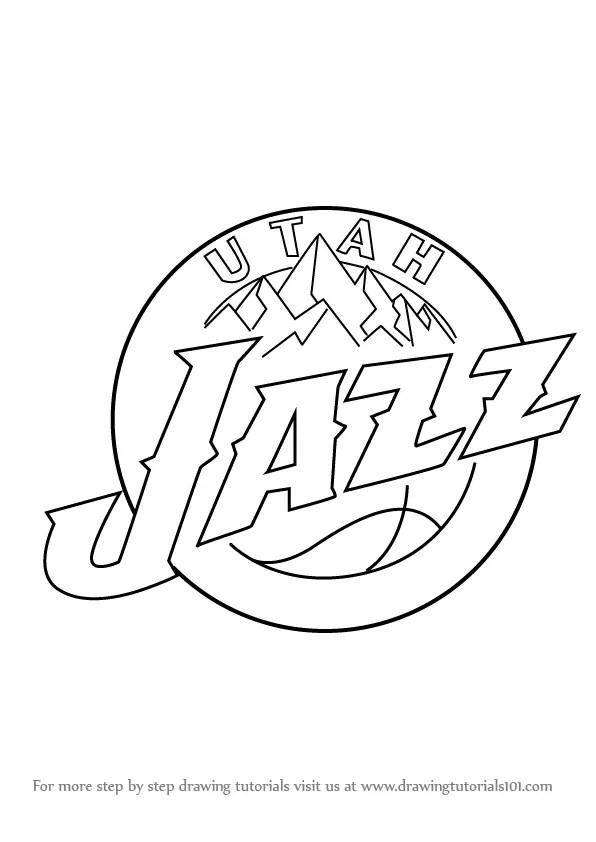 Learn How to Draw Utah Jazz Logo (NBA) Step by Step