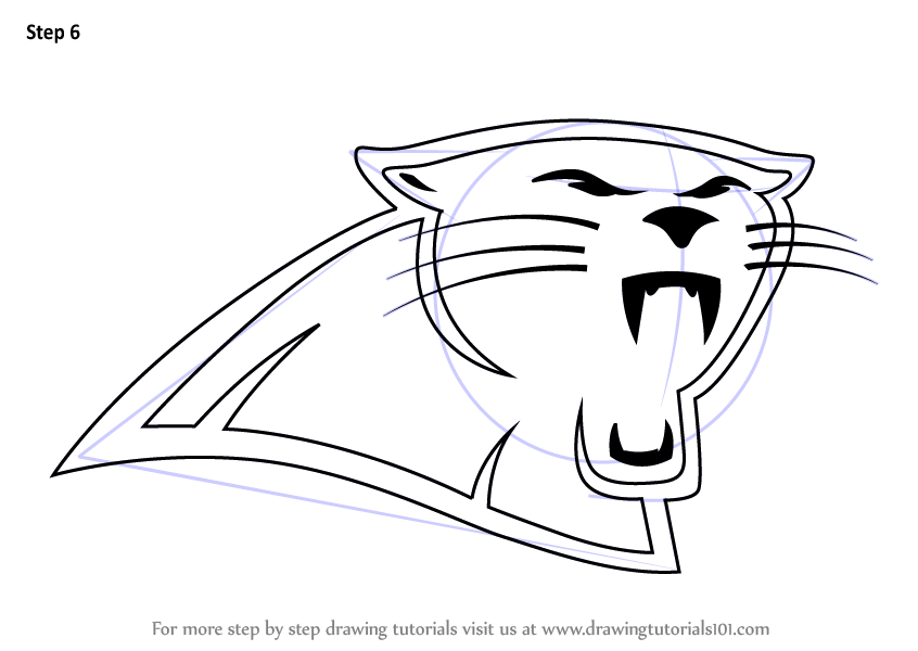 Learn How To Draw Carolina Panthers Logo NFL Step By
