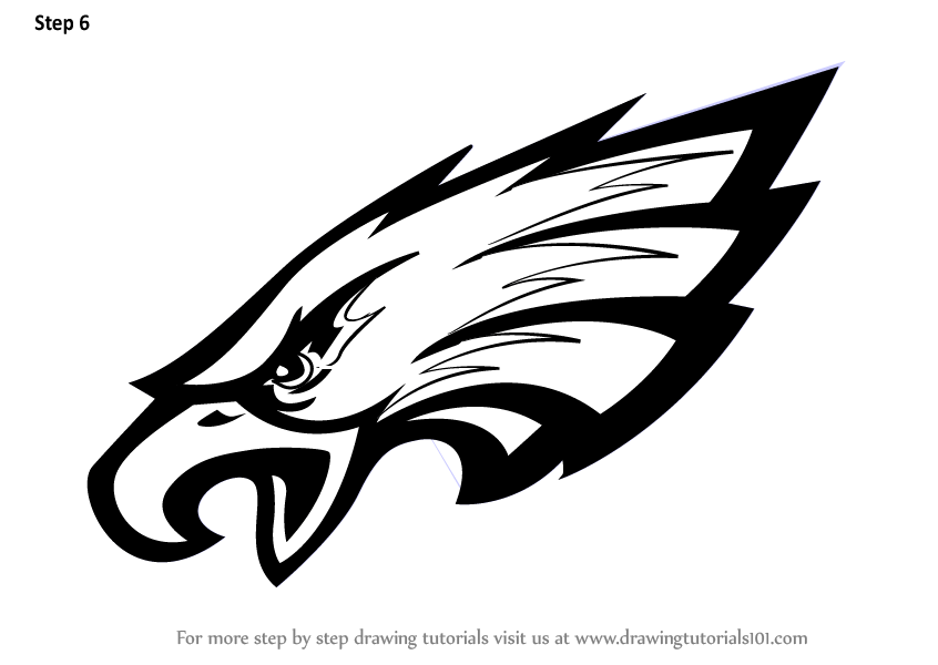 Learn How to Draw Philadelphia Eagles Logo (NFL) Step by
