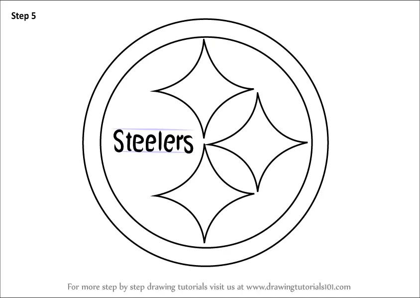 steelers emblem stencil
