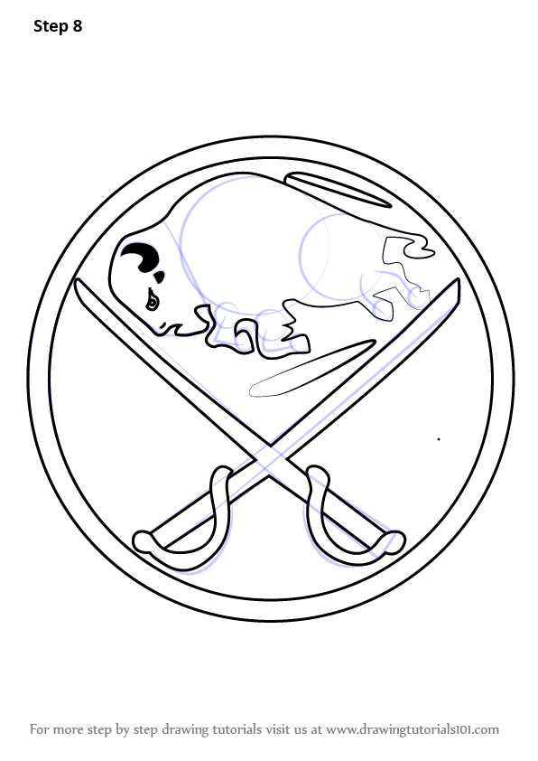 Learn How To Draw Buffalo Sabres Logo Nhl Step By Step Drawing