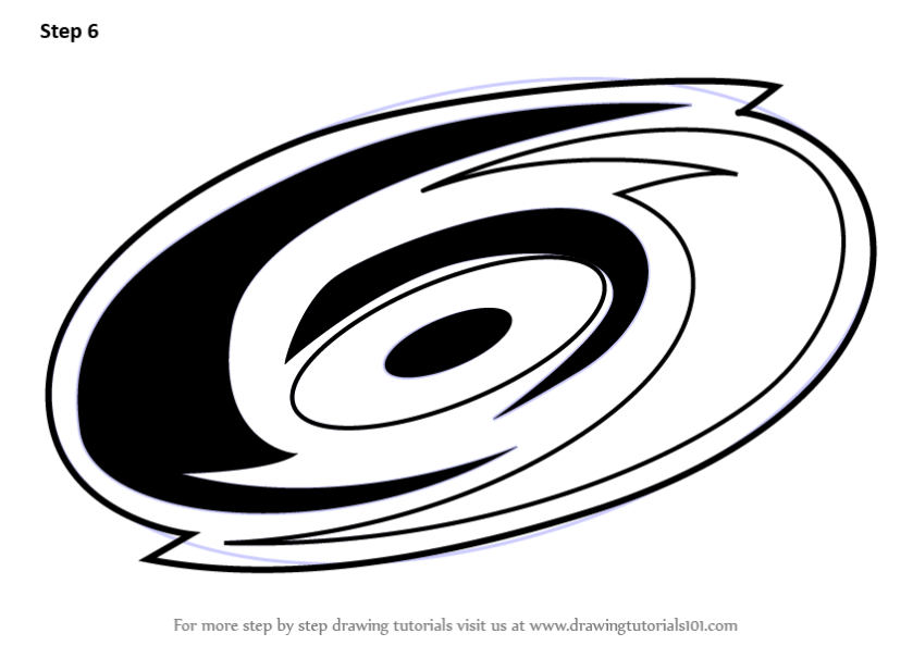 learn how to draw carolina hurricanes logo (nhl) step
