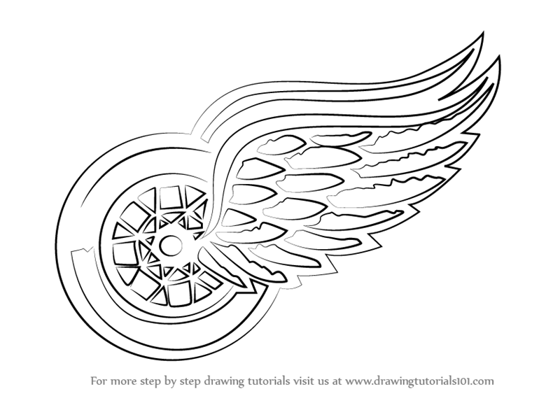 Learn How to Draw Detroit Red Wings Logo (NHL) Step by