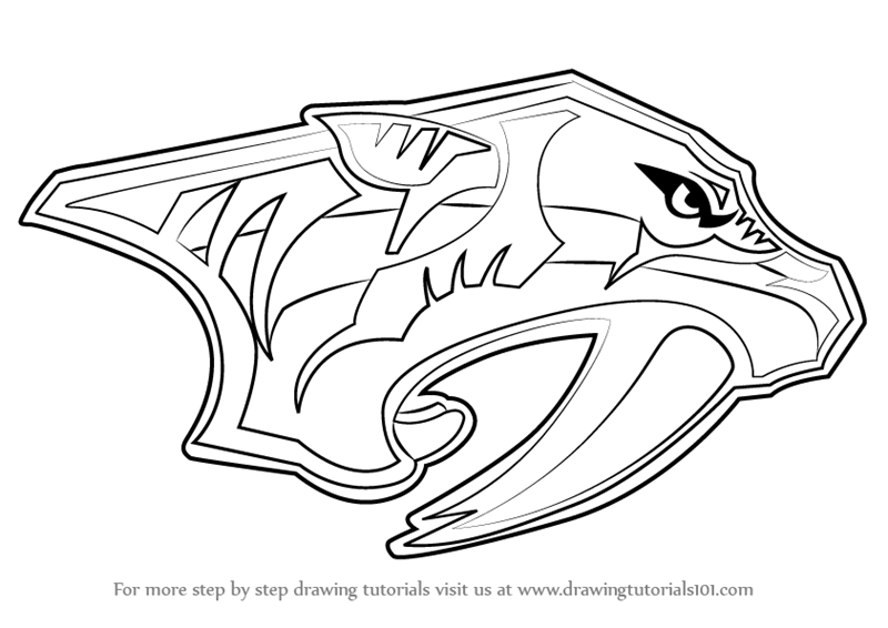 Learn How to Draw Nashville Predators Logo (NHL) Step by