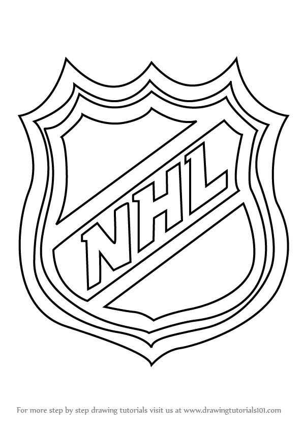 Nhl Logo Coloring Page