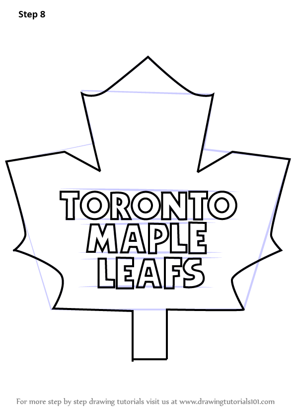 Learn How to Draw Toronto Maple Leafs Logo (NHL) Step by