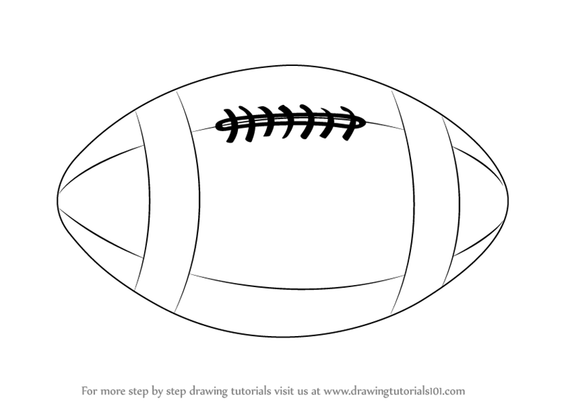 Learn How to Draw a Rugby Ball (Other Sports) Step by Step