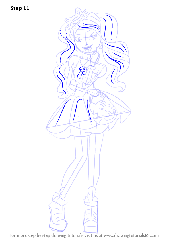 Learn How To Draw Kitty Cheshire From Ever After High