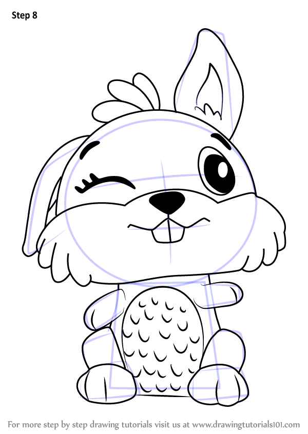 learn how to draw bunwee from hatchimals (hatchimals) step