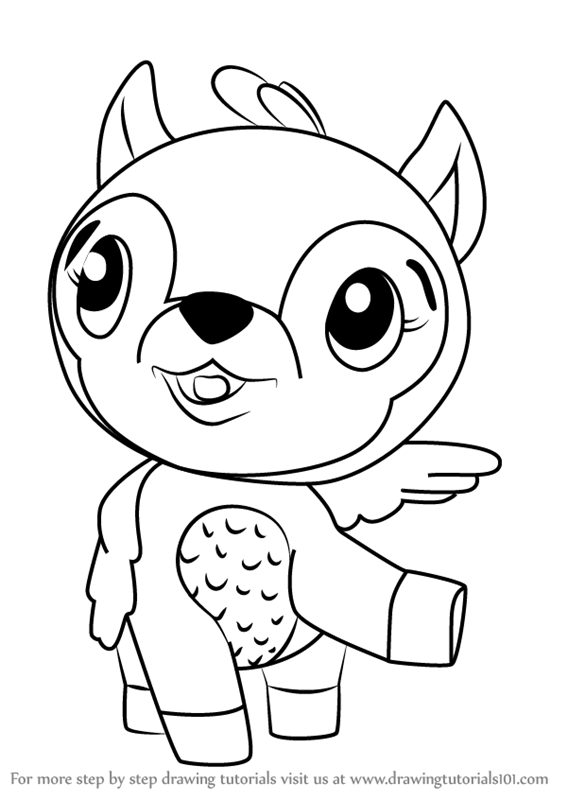 learn how to draw deeraloo from hatchimals (hatchimals