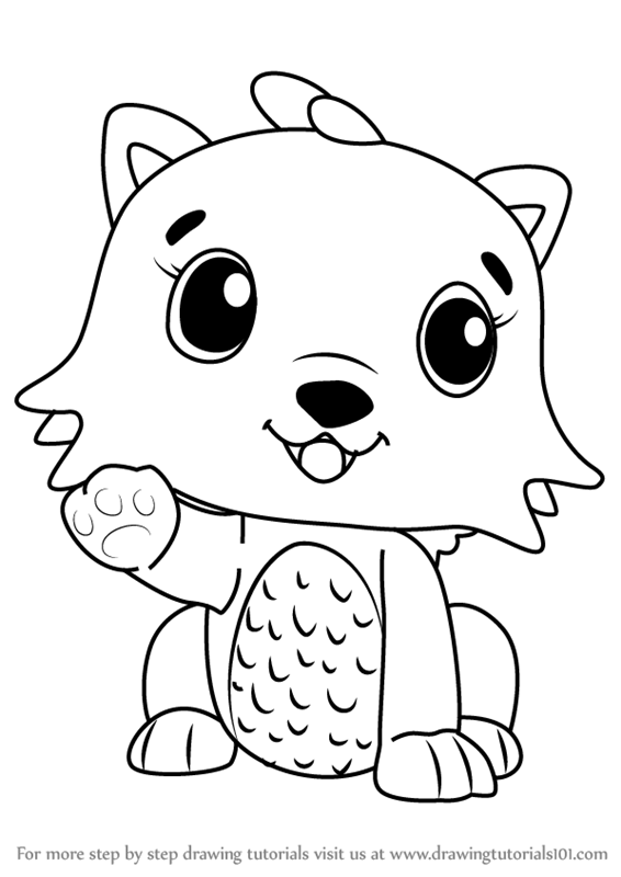 Step by Step How to Draw Kittycan from Hatchimals