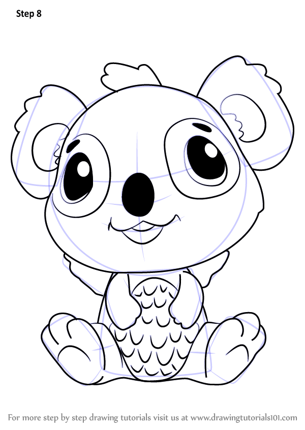 Learn How To Draw Koalabee From Hatchimals Hatchimals