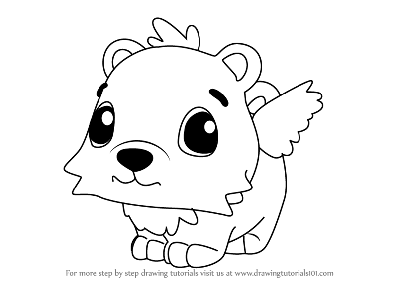 Learn How To Draw Polar Hummingbear From Hatchimals