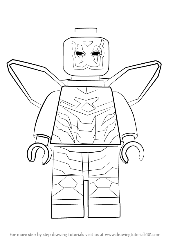 Learn How to Draw Lego Blue Beetle (Lego) Step by Step