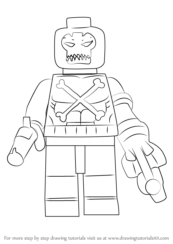 Learn How to Draw Lego Crossbones (Lego) Step by Step
