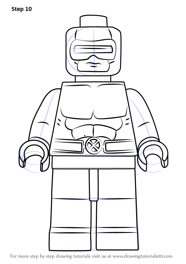 Learn How to Draw Lego Cyclops (Lego) Step by Step