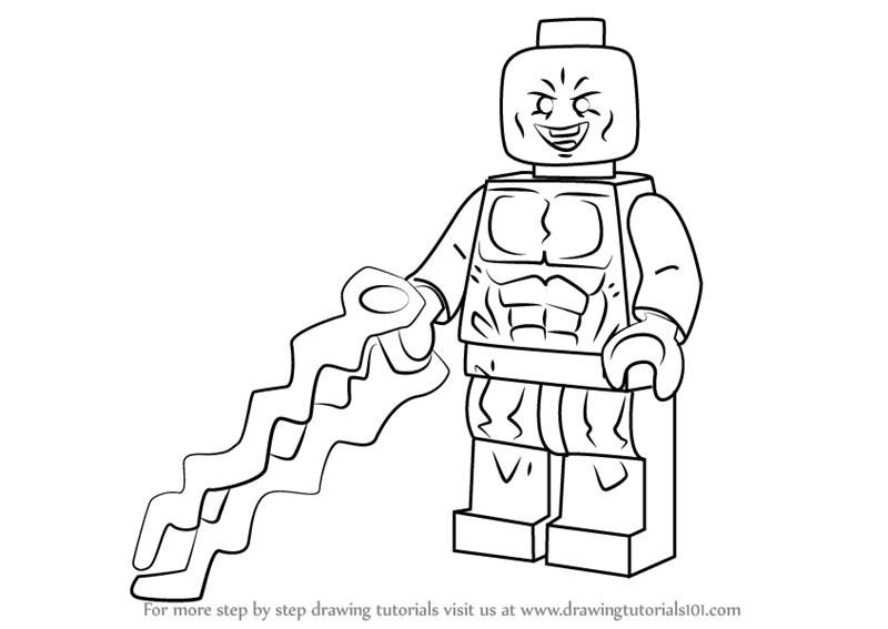 Learn How to Draw Lego Electro (Lego) Step by Step
