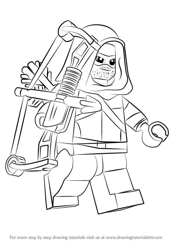 Learn How to Draw Lego Green Arrow (Lego) Step by Step