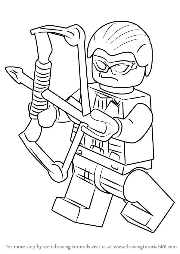 Learn How to Draw Lego Hawkeye (Lego) Step by Step
