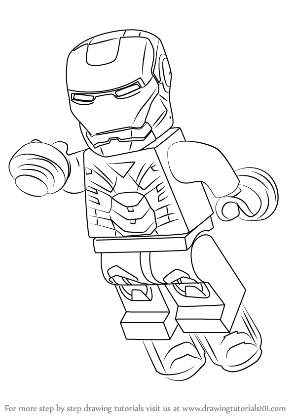 Learn How to Draw Lego Iron Man (Lego) Step by Step